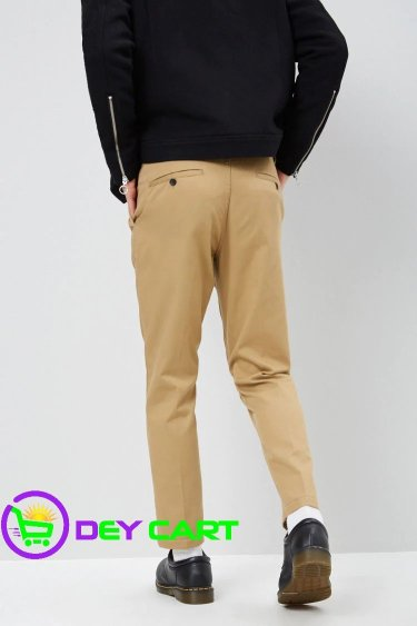 Forever21 Cropped Slim-Fit Chino Pants - Khaki 1