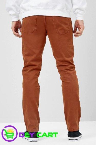 Forever21 Slim-Fit Pants - Rust 1