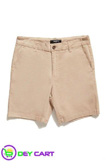 Woven Twill Shorts - Khaki 0