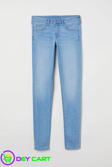 H&M Super Skinny Low Jeans - Light Denim Blue
