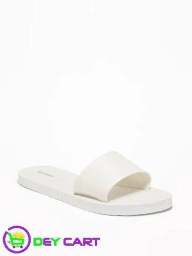 Old Navy Jelly Slide Flip-Flops - Women - White 0
