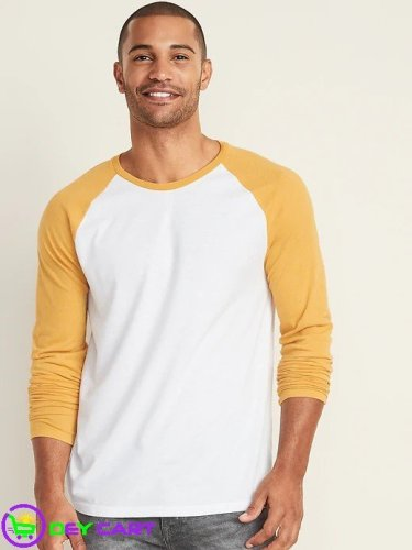Old Navy 2 Colored Long Sleeve Tee - White/Mustard