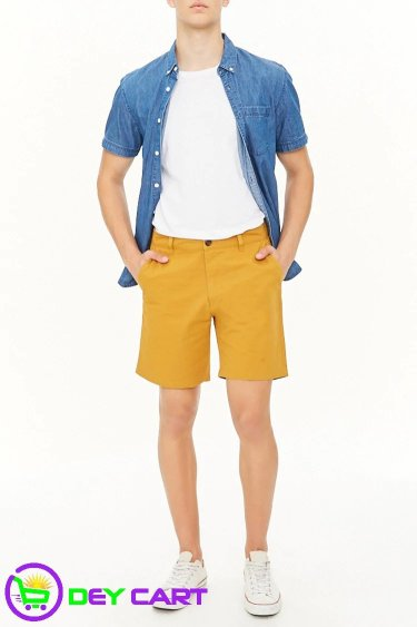 Forever21 Woven Twill Shorts - Mustard 0
