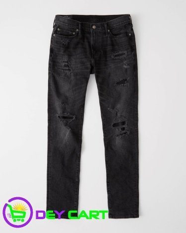 Abercrombie & Fitch Distressed Skinny Jeans - Black