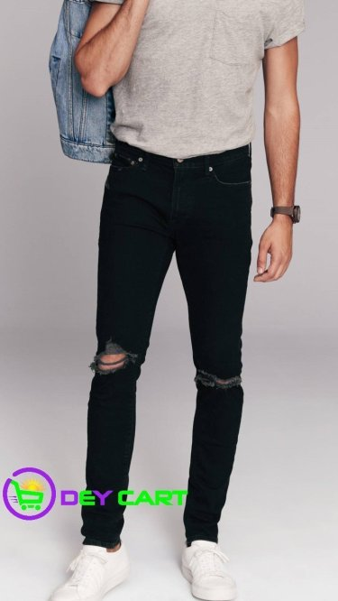 Abercrombie & Fitch Ripped Super Skinny Jeans - Black 0