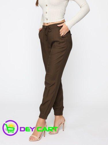 Fashion Nova Gold Hardware Detail Jogger Pants - Olive