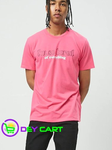 Forever21 Bored of Everything Graphic Tee - Hot Pink 0