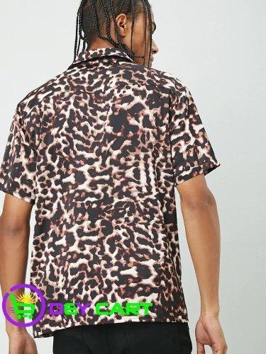 Forever21 Leopard Print Shirt - Black/Multi 1