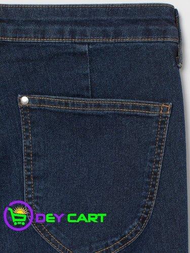 H&M Skinny High Ankle Jeans - Dark Denim Blue 0