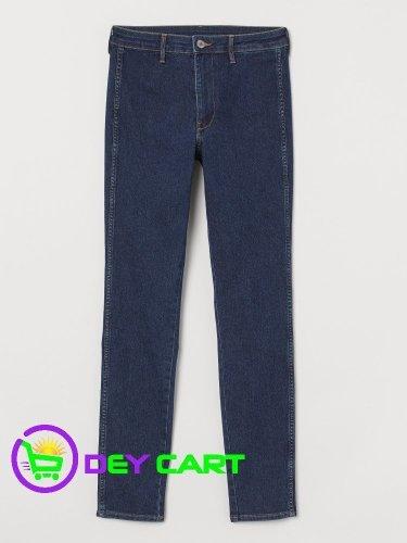 H&M Skinny High Ankle Jeans - Dark Denim Blue