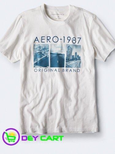 Aeropostale Original Brand Graphic Tee - Bleach