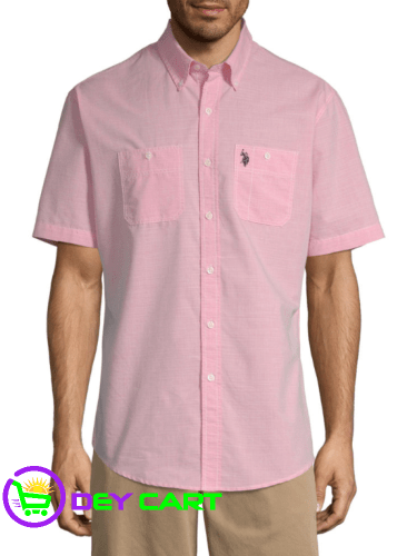 U.S. Polo Assn. 2 Chest Slip Pockets Shirt - Coral