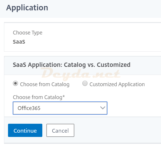Unified Gateway Bookmark SaaS Choose from Catalog