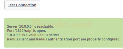 Test RADIUS Connection