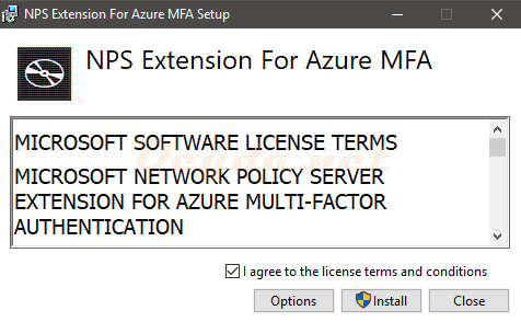 NPS Extension for Azure MFA Installer