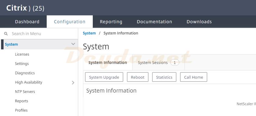 Target Citrix ADC System