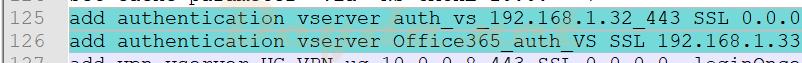 add authentication vserver