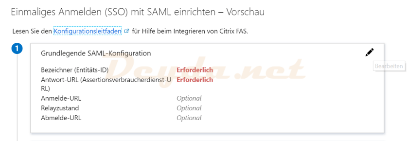 Basic SAML Configuration Application Single-Signon