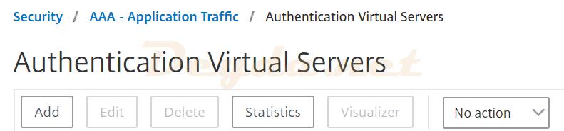 Authentication Virtual Servers AAA - Application Traffic FAS SAML