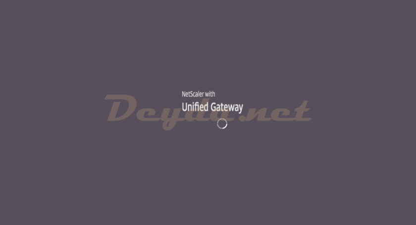 NetScaler with Unified Gateway