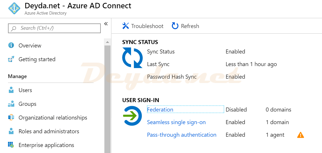 Activation of Azure AD Seamless Single Sign-On