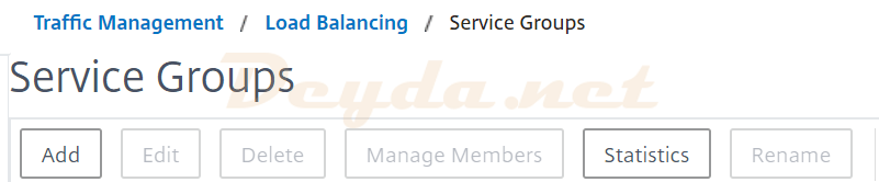 Traffic Management Service Groups Load Balancing