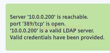 Server is reachable port 389/tcp