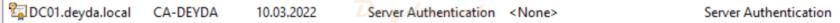 Certificate Server Authentication
