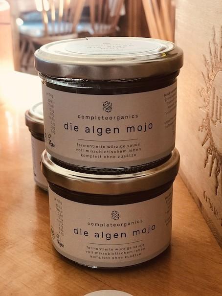 die Algen Mojo mit grüner paprika scharf säuerlich wenig algengeschmack fermentiert bio ohne zusätze