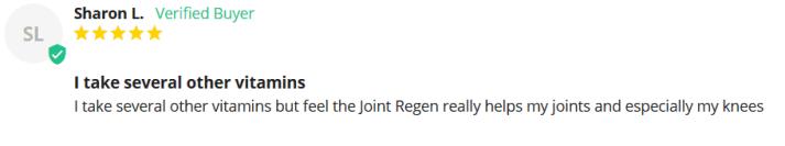 The ASR Joint Regen dosage customer review