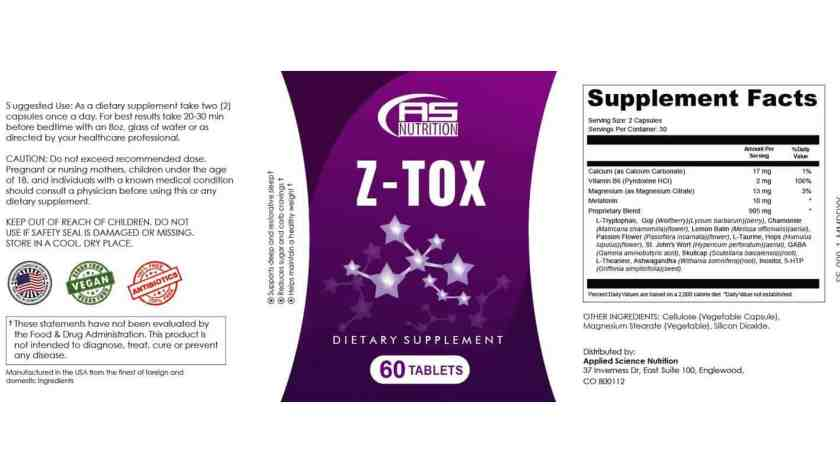Z-Tox Dosage