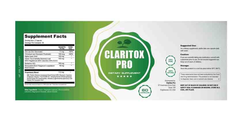 Claritox Pro dosage