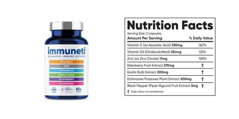 Immuneti Supplement dosage