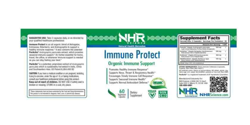 NHR Science Immune Protect dosage