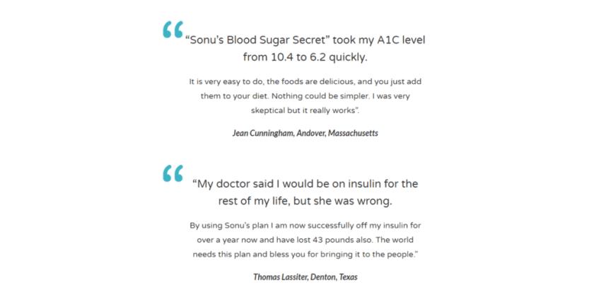 Sonu's Diabetes Secret reviews Customer Reviews