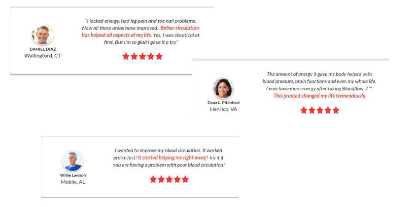 blood flow 7 customer reviews