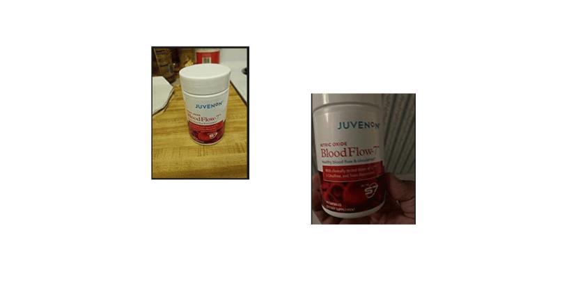 Blood Flow 7 supplement bottles-customer images
