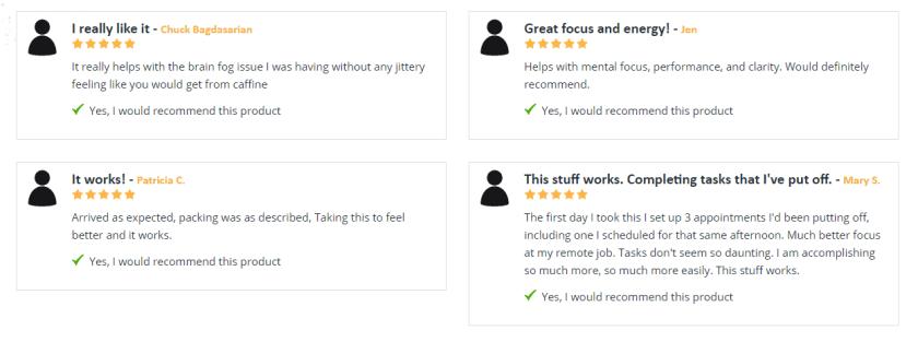 Nootrogen Customer reviews