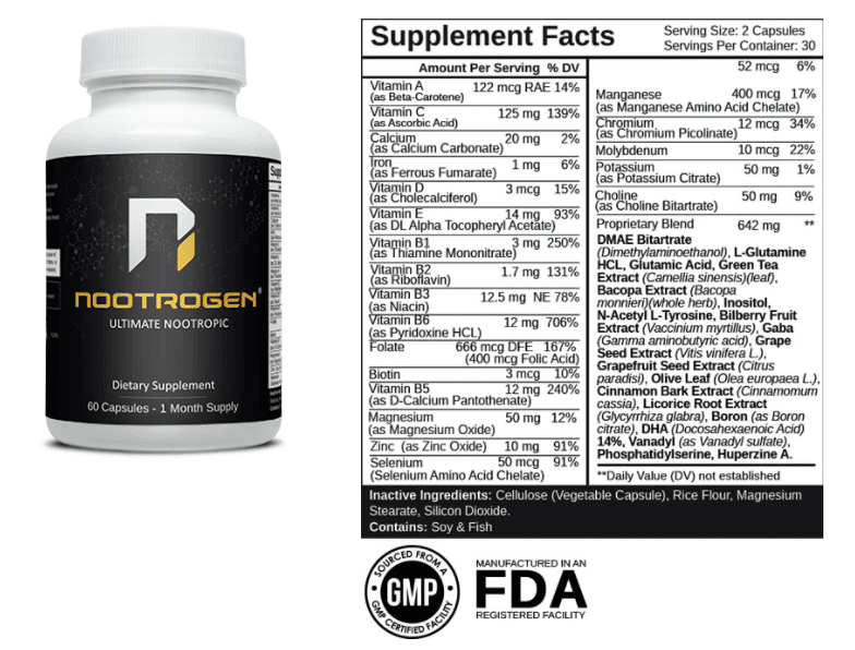 Nootrogen Dosage