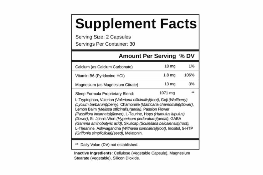 Sleep-Support-Plus Supplement Dosage