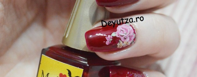 Flower nails decals
