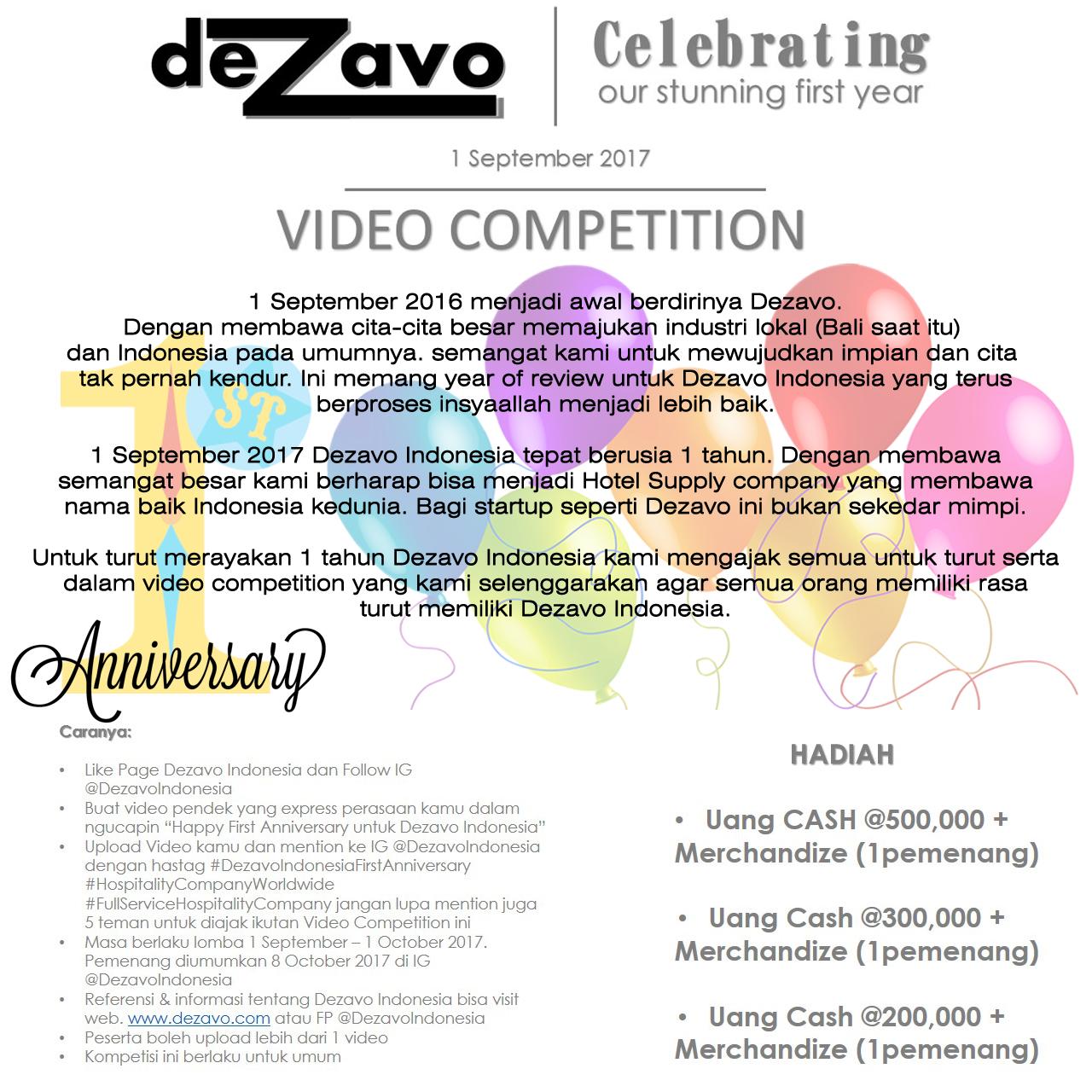 Dezavo's Video Competition