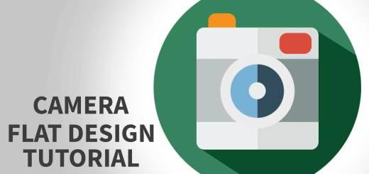 Flat design tutorial Photoshop | UI design tutorial for beginners