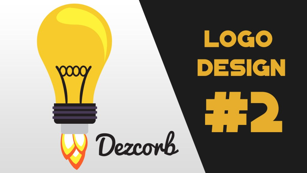How to design a logo in photoshop cs6 for beginners | Flat Design | Bulb Logo