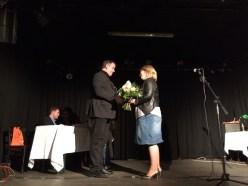 Goldegg-Geschäftsführer Elmar Weixlbaumer gratuliert zum dritten Platz. Foto: Caroline Seibert