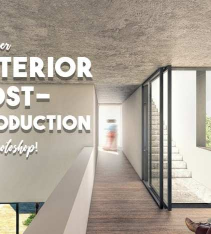 Interior Architecture Post-production in Photoshop - Dezign