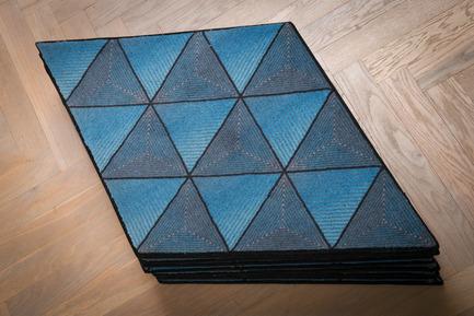 Press kit   2512-01 - Press release   Jigsaw Rug Wins Double Design Award - Ingrid Külper Design AB - Commercial Interior Design - jigsaw multipurpose rug printed on wool - Photo credit: Ewa Malmsten Nordell