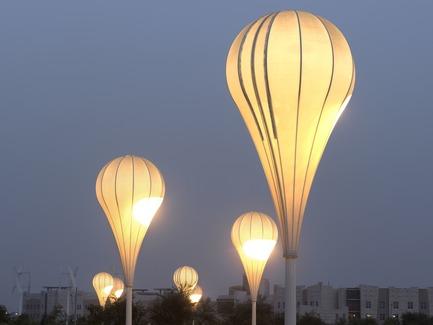 Press kit | 2404-02 - Press release | Oxygen Park, Education City, Doha - Qatar Foundation, AECOM - Institutional Architecture -  Balloon Lights - Photo credit: Markus Elblaus