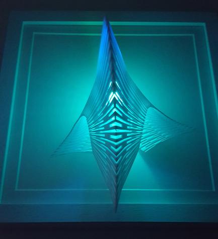 Press kit   2121-06 - Press release   Seismic Electromagnetic Induction LED - Margot Krasojević Architects - Lighting Design - 3D printed diffuser net - Photo credit: Margot Krasojević