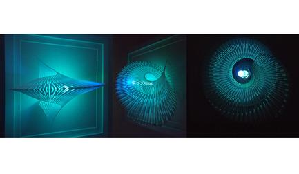 Press kit   2121-06 - Press release   Seismic Electromagnetic Induction LED - Margot Krasojević Architects - Lighting Design - Recycled polymer 3d printed geometry light study - Photo credit: Margot Krasojević